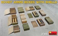 MiniArt 35261 SOVIET AMMO BOXES w/SHELLS (1:35)