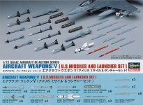 Hasegawa X72-9 US Missiles and Launchers (1:72)
