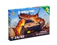 Italeri 34102 World of Tanks - T-34/85 - Easy to Build 1/72