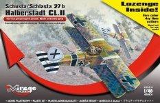 Mirage Hobby 481401 Schusta/Schlasta 27b Halberstadt CL.II + Lozenge decals (1:48)
