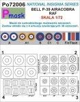 P-Mask PO72006 MASKI DO MALOWANIA OZNACZEŃ AIRACOBRA RAF (1:72)