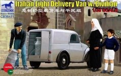 Bronco CB35171 Italian Light Delivery Van w/Civilian (1:35)