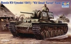 Trumpeter 00356 Russia KV-1(model 1941) / KV Small Turret Tank (1:35)