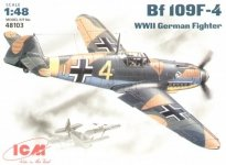 ICM 48103 Bf 109F-4 WWII German Fighter (1:48)