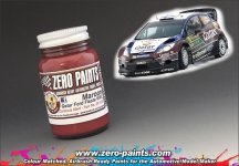 Zero Paints ZP-1245 Marron Paint for Qatar Ford Fiesta WRC Paint 60ml
