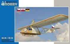 Special Hobby 48139 SG-38/K-38 Schulgleiter/Komar Czech, Polish and DDR markings