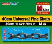 Trumpeter 08009 40CM Universal Fine Chain M Size 1.0mmX1.8mm