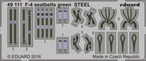 Eduard 49111 F-4 seatbelts green STEEL 1/48