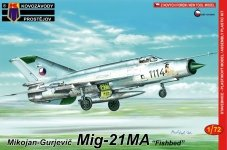 Kozavody Prostejov KPM0097 MiG-21MA (1:72)
