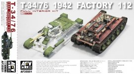 AFV Club 35S51 T-34/76 1942 Factory 112 with transparent turett (1:35)