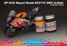 Zero Paints ZP-1035 Repsol Honda RC211V 2002 Paint Set 2x30ml