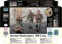Master Box 35145 German Paratroopers. WW II era