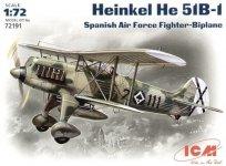 ICM 72191 Heinkel He 51B-1, Spanish Air Force Fighter-Biplane (1:72)