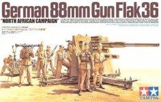 Tamiya 35283 German 88mm Gun Flak36 North African Campaign (1:35)