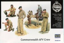 Master Box 3564 Commonwealth AFV Crew Noth Africa 1942-1943 (1:35)