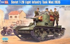 Hobby Boss 82496 Soviet T-26 Light Infantry Tank Mod.1935 (1:35)