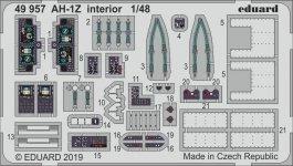 Eduard 49957 AH-1Z interior 1/48 KITTY HAWK