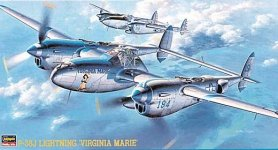 Hasegawa JT1 P-38J Lightning Virginia Marie (1:48)