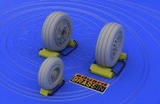 Eduard 648011 F-16 late wheels 1/48 (Kinetic Model)