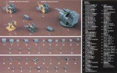 Hasegawa QG18 (72118) Japanese Navy Ship Equipment Set A (Machine Guns & Optical Weapons) 1/350