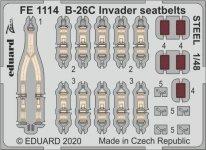 Eduard FE1114 B-26C Invader seatbelts STEEL 1/48 ICM