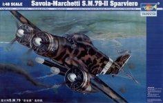 Trumpeter 02817 Savoia-Marchetti S.M.79-II Sparviero (1:48)