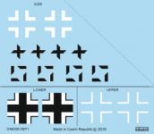 Eduard D48036 Fw 190A-8/ R2 national insignia 1/48 EDUARD