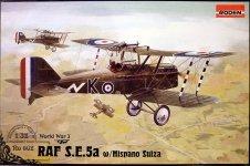 Roden 602 RAF S.E.5a (w/Hispano Suiza) WW1 fighter (1:32)