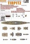 Wood Hunter W35009 Wood deck German Tirpitz for Tamiya (1:350)