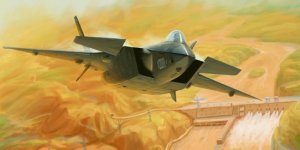 Trumpeter 01665 Chinese J-20 Mighty Dragon 1/72