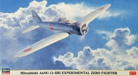 Hasegawa 09840 Mitsubishi A6M1 12-Shi Experimental Zero Fighter 1/48