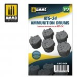 Ammo of Mig 8104 MG-34 AMMUNITION DRUMS 1/35