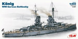 ICM S001 WWI German battleship Koenig model kit (1:350)