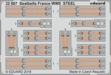 Eduard 32887 Seatbelts France WWII STEEL 1/32