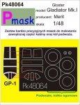 P-Mask PK48064 GLOSTER GLADIATOR MK.I (MERIT) (1:48)