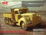 ICM 35412 V3000S/SS M (Sd.Kfz.3b) Maultier, WWII German Semi-Tracked Truck (1:35)