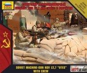 Zvezda 7411 Soviet Machine-Gun NSV 12,7 UTES with crew 1/72