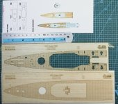 Wood Hunter W35076 HMS Exeter (Trumpeter 05350) 1/350