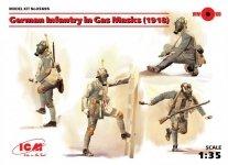ICM 35695 German Infantry in Gas Masks (1918) 1/35