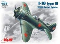 ICM 72072 I-16 type18 WWII Soviet fighter (1:72)