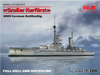 ICM S015 (Full Hull OR Waterline), WWI German Battleship Großer Kurfürst 1/700
