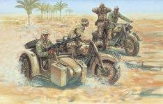 Italeri 6121 GERMAN MOTORCYCLES (1:72)