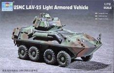Trumpeter 07268 USMC LAV-25 Light Armored Vehicle (1:72)