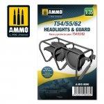 AMMO of Mig Jimenez 8086 T54/55/62 headlights & guard 1/35