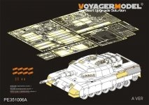 Voyager Model PE351006A Modern Canadian Leopard C2 MEXAS MBT(For MENG TS-041) 1/35