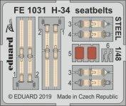 Eduard FE1031 H-34 seatbelts STEEL 1/48 GALLERY MODELS