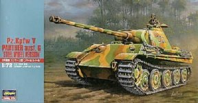 Hasegawa MT37 German Panther Ausf G with Steel Wheels (1:72)