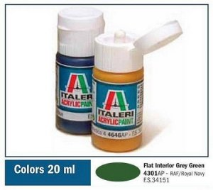 Italeri 4301 Flat Interior Grey Green 20ml