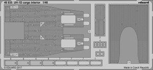 Eduard 48935 UH-1D cargo interior KITTY HAWK 1/48