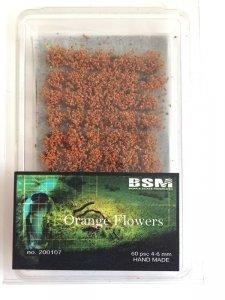 Bear`s Scale Modeling 200107 Orange Flowers 4-6mm (60 pcs)